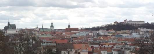 Blick von der Villa Tugendhat über die Stadt