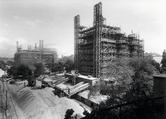 Baustelle Flaktürme Arenbergpark, 1943