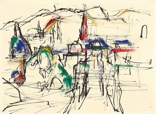 Gerhard Frankl, Blick auf Wien vom Belvedere