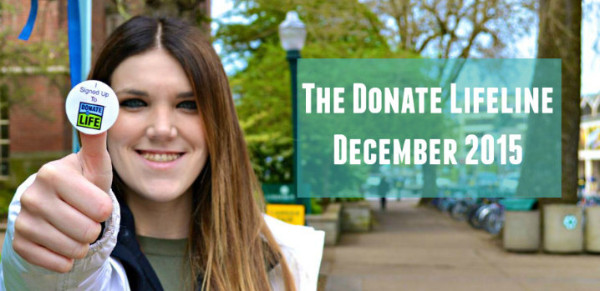The Donate Lifeline (December Edition)