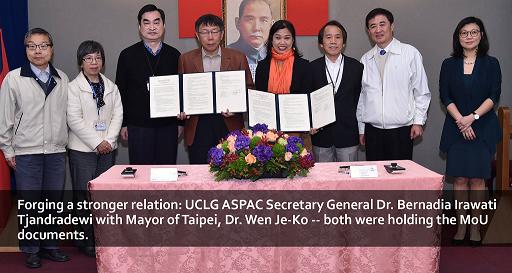UCLG ASPAC MoU with Taipei City Government