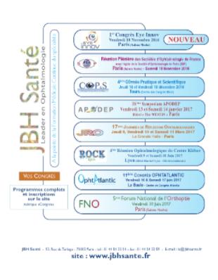 Congrès Ophtalmologies JBH Santé