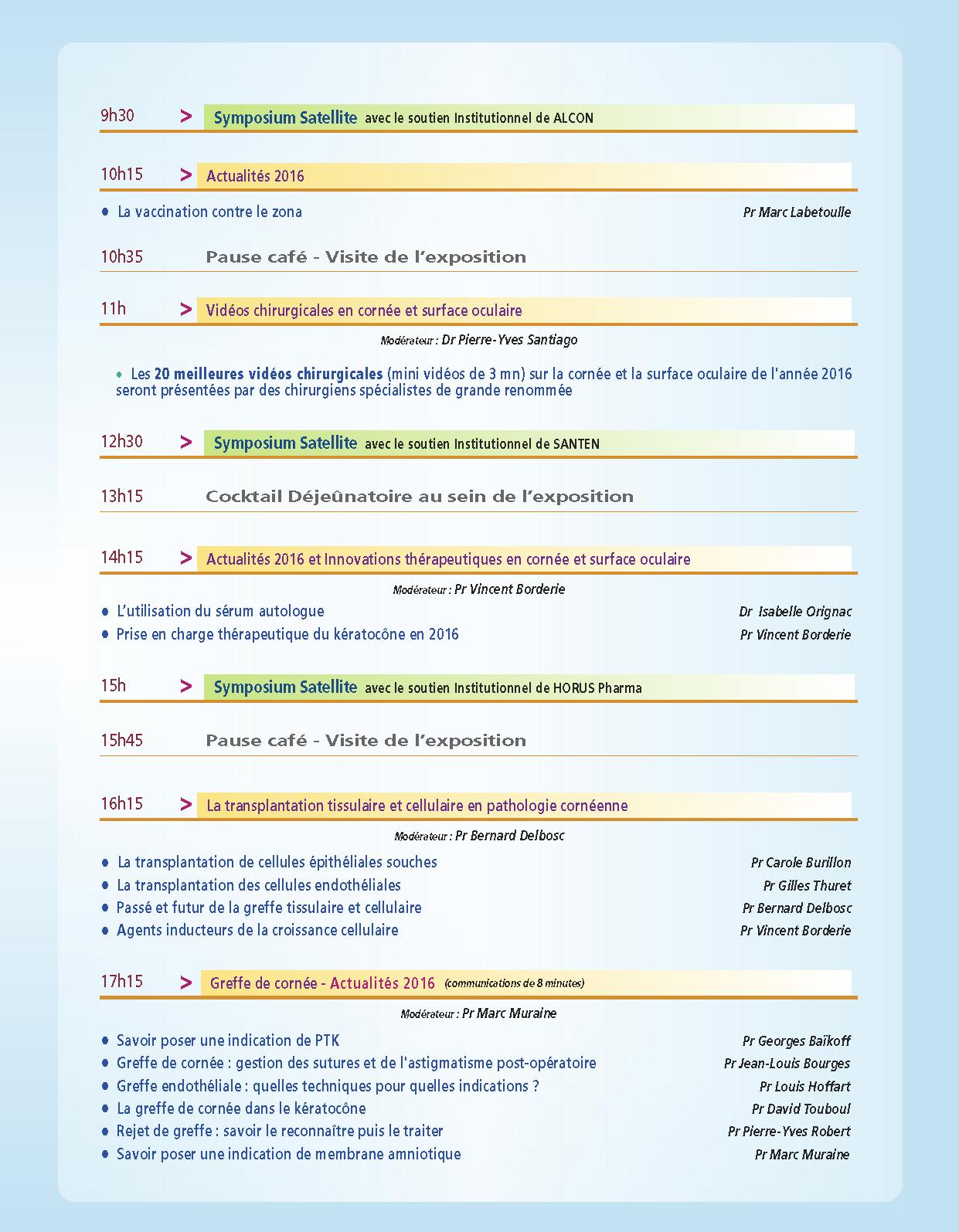 Programme COP'S 2015 part2