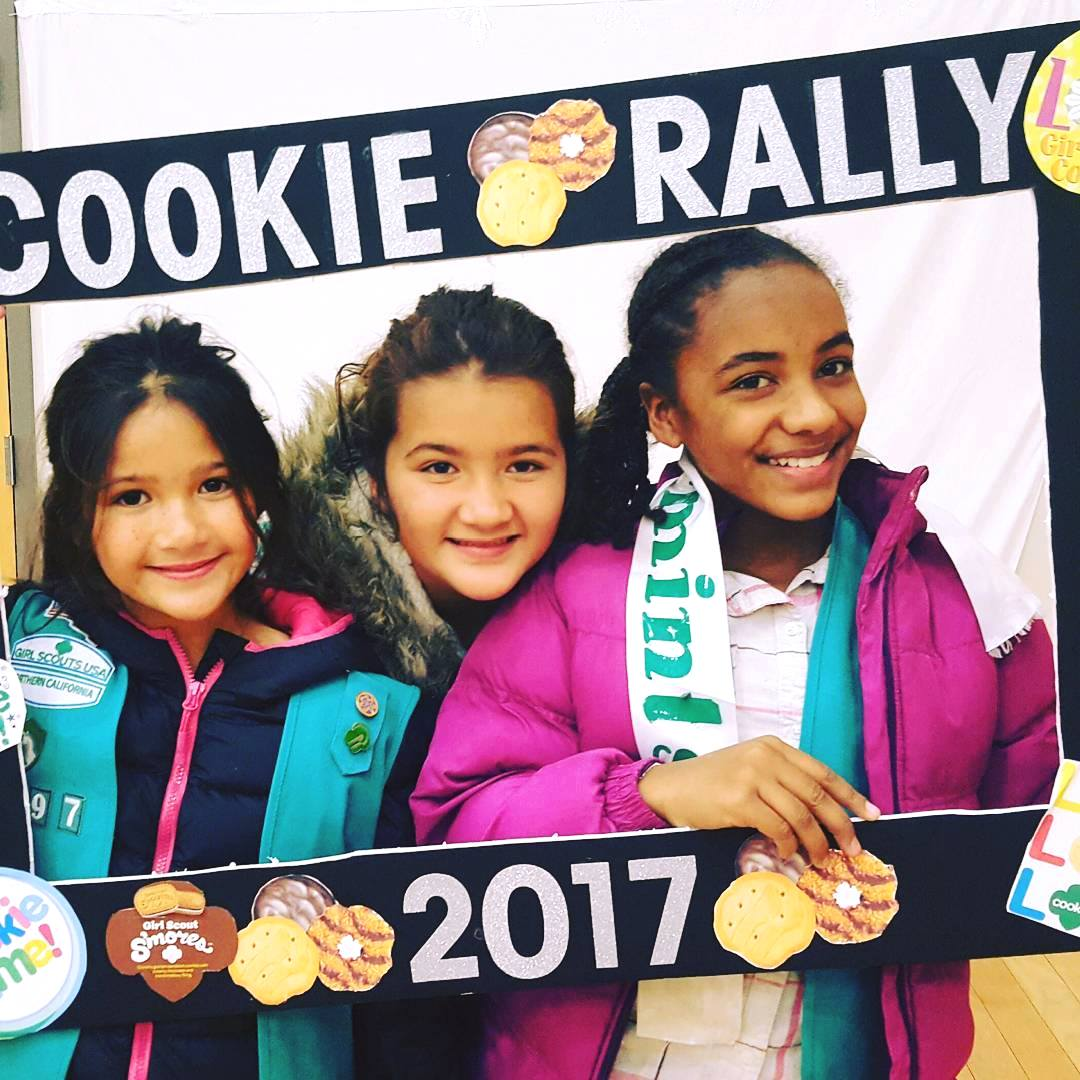 Girls at the 2017 Cookie Rally