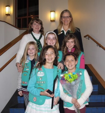Girl Scout Medal of Honor Recipient with Marina