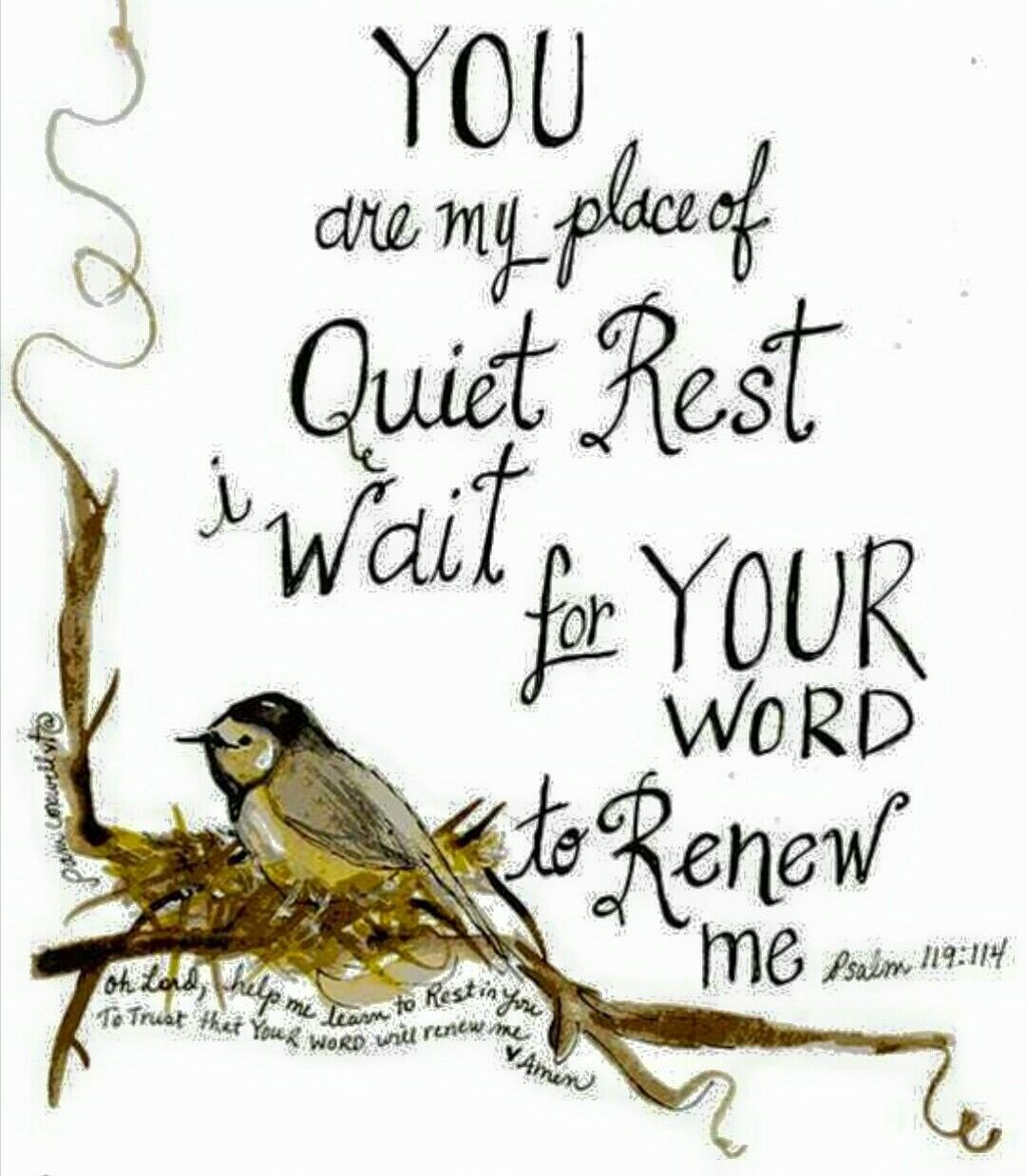 Rest in God Psalm 119:114