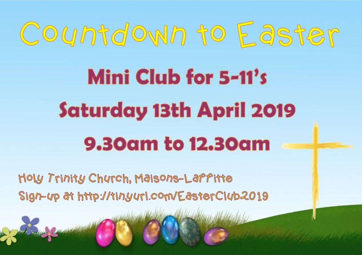 Easter Mini Club Sat 13th April 9h30
