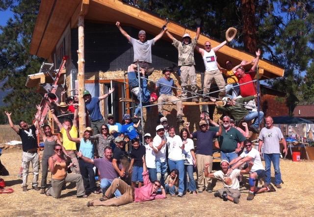Montana straw bale workshop