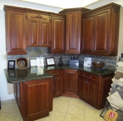 Cherry Cabinet Display For Sale