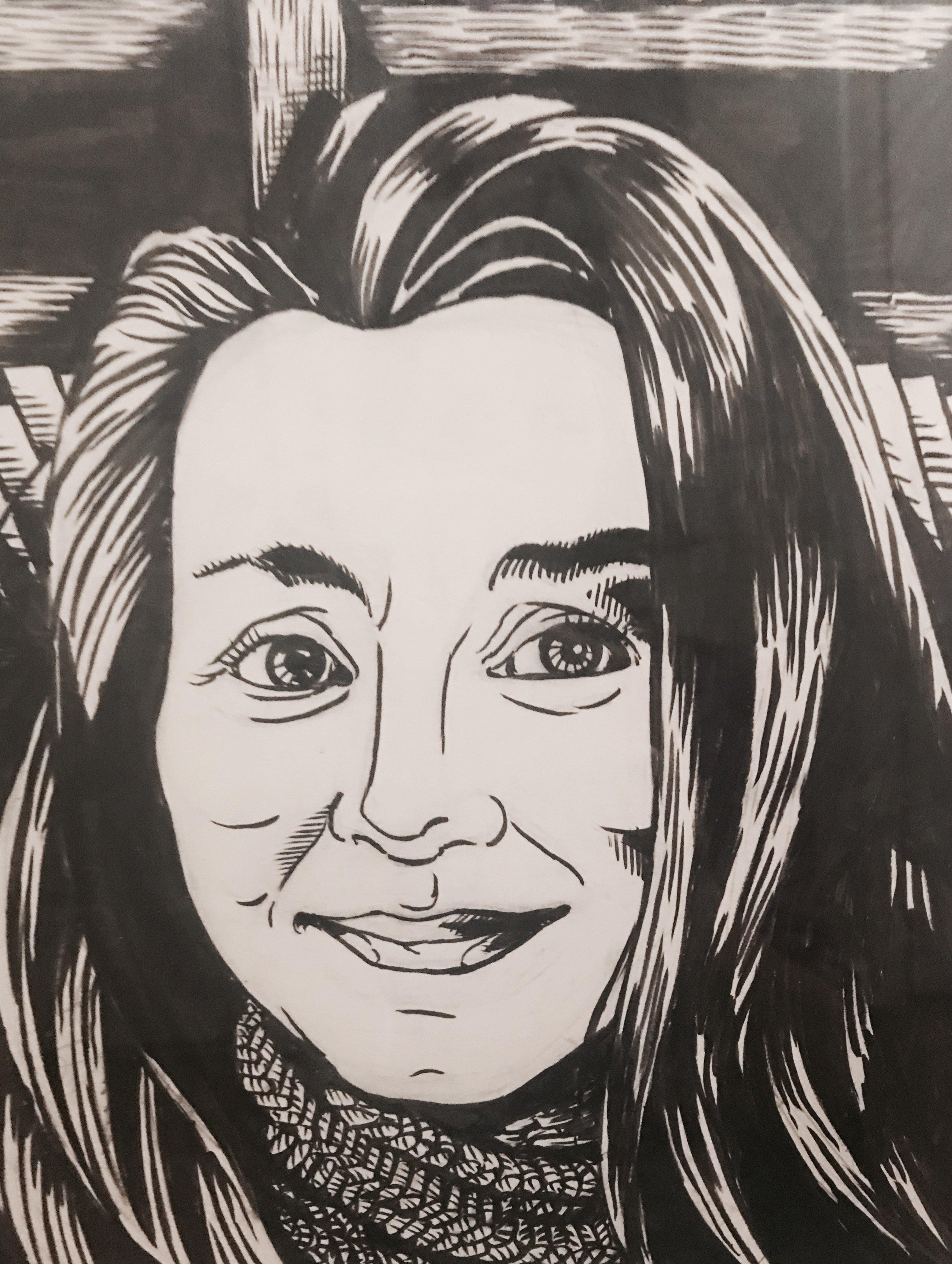 Drawing of Stephanie Jones