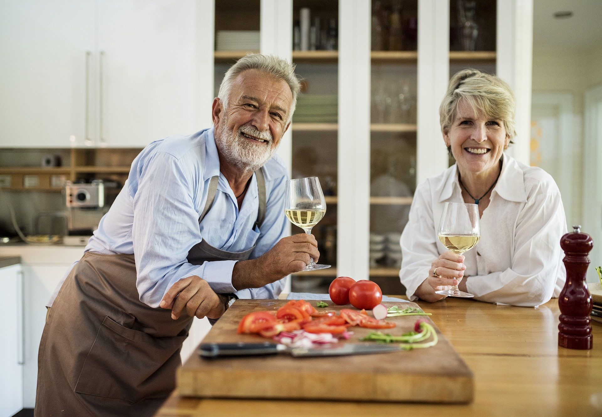 Couple preparing a meal