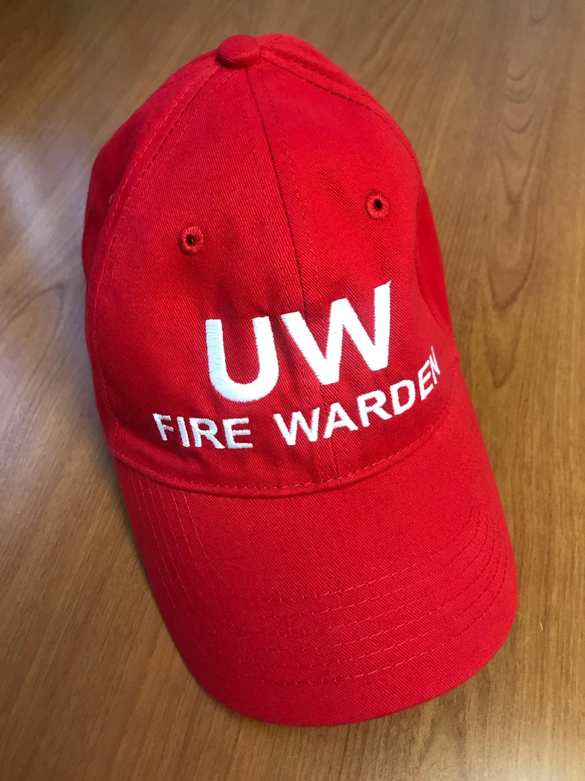 UW fire warden hat