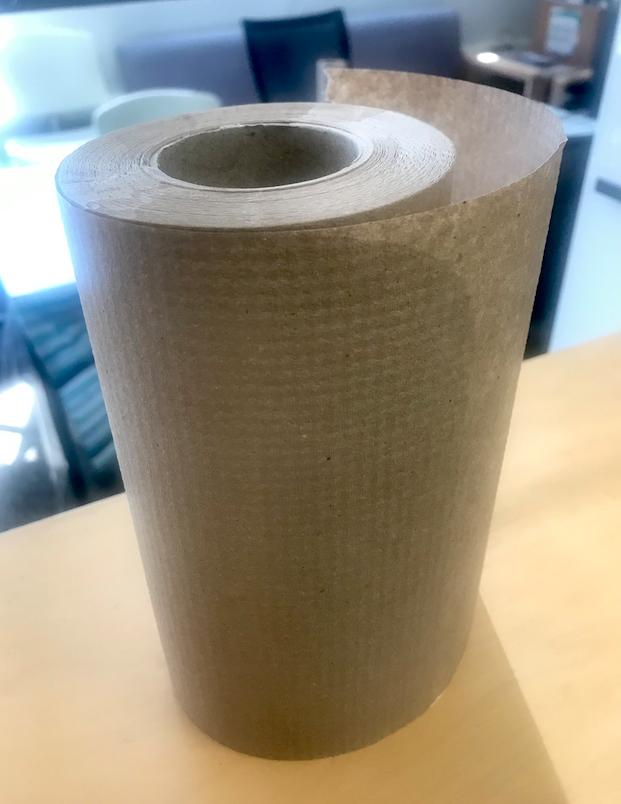 Brown paper towel roll