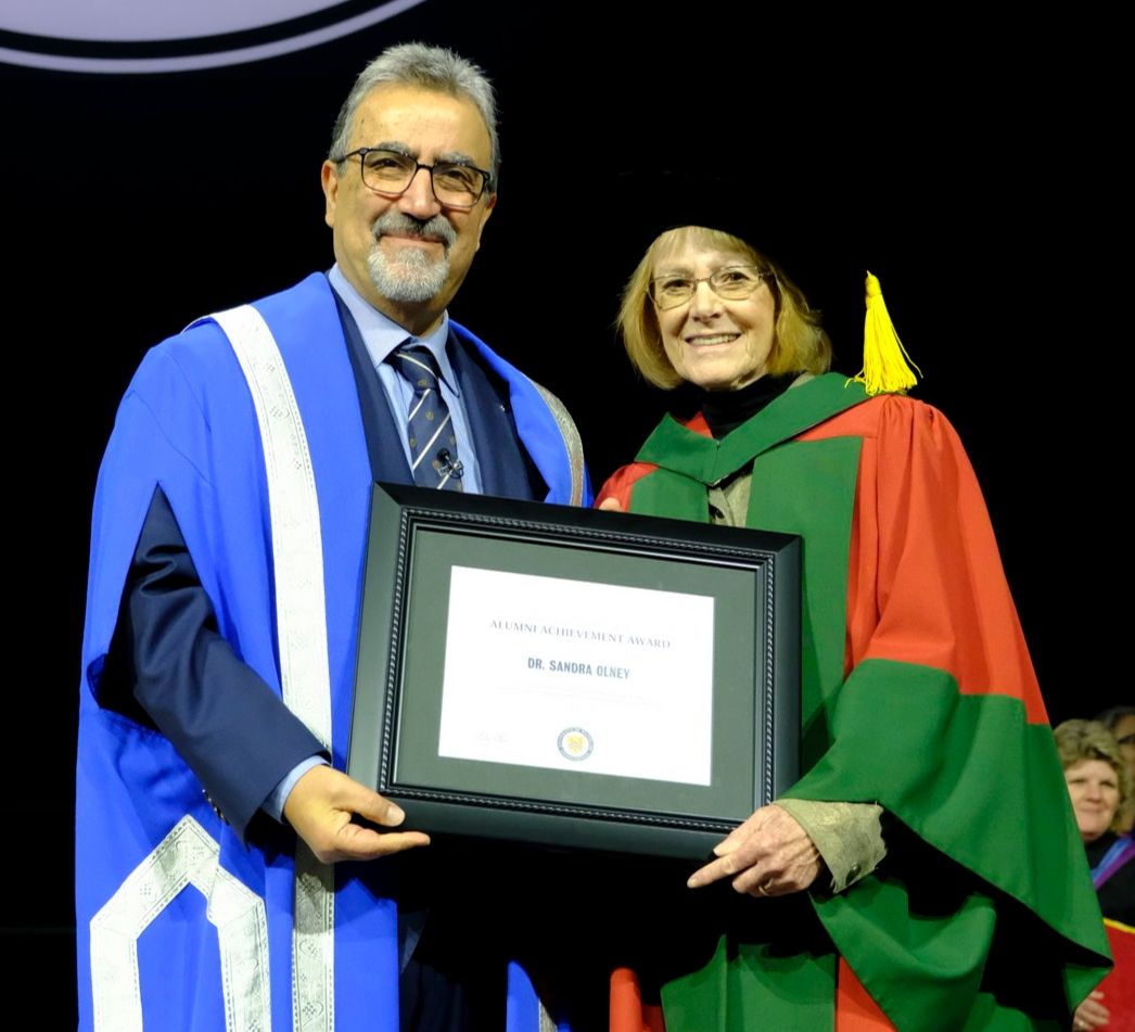 President Hamdullahpur with Sandra Olney