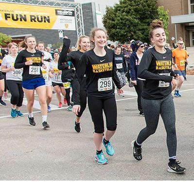 Participants in Fun Run