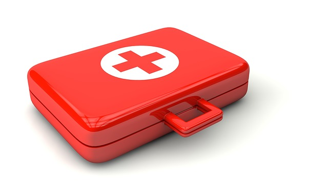 Red first-aid kit