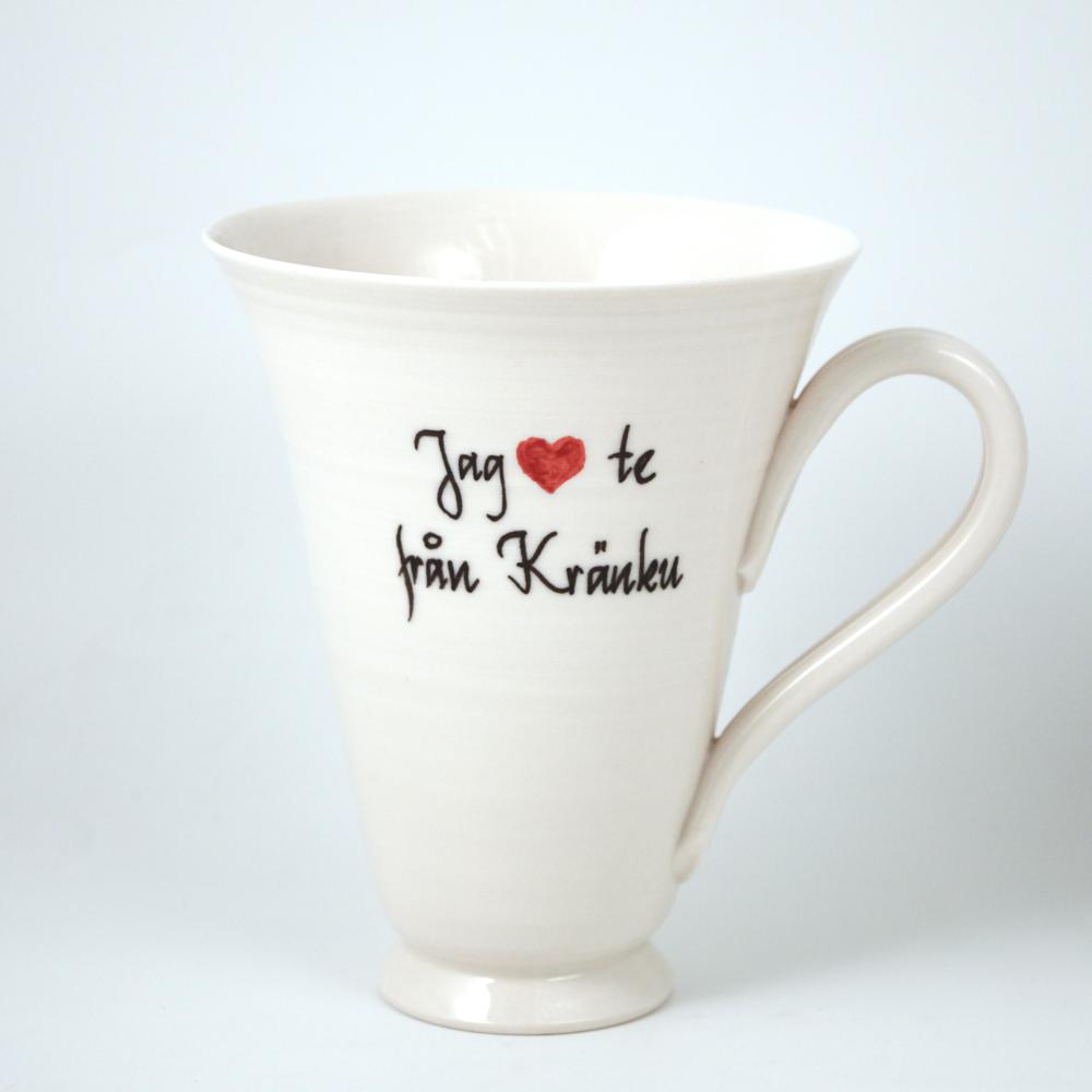 Mugg Jag hjärta te från Kränku