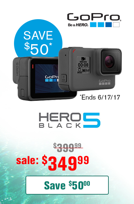 GoPro Hero 5 Black $50 Off