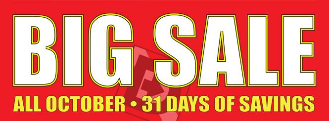 Big October Sale