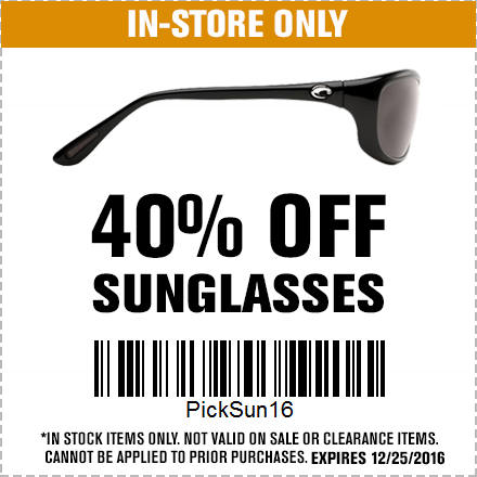 40% Off Sunglasses