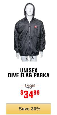 Unisex Dive Flag Parka