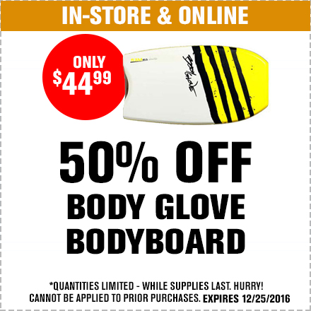 50%$ Off Body Glove BodyBoard