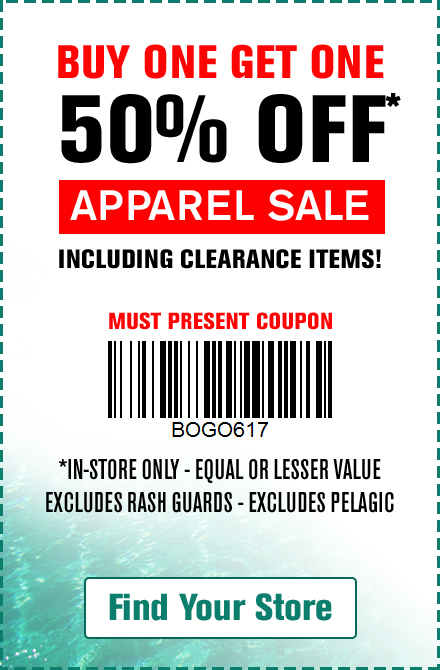 Bogo 50% Off Apparel Coupon