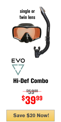 EVO Hi Definition Mask Snorkel Combo