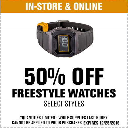 50% Freestyle Watches