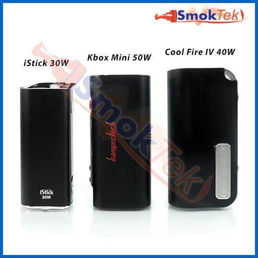 Eleaf iStick 30W, Kanger KBOX Mini, Innokin Cool Fire 4