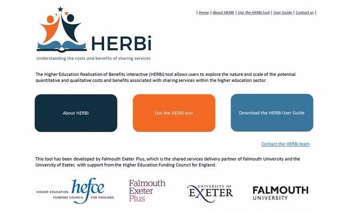 Screenshot of the HERBi tool