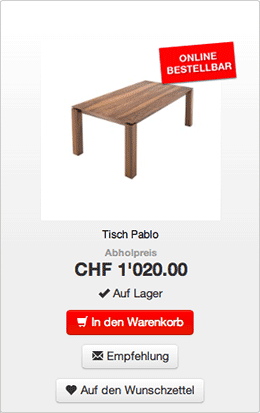 Screenshot aus dem neuen Möbel EGGER-Webshop