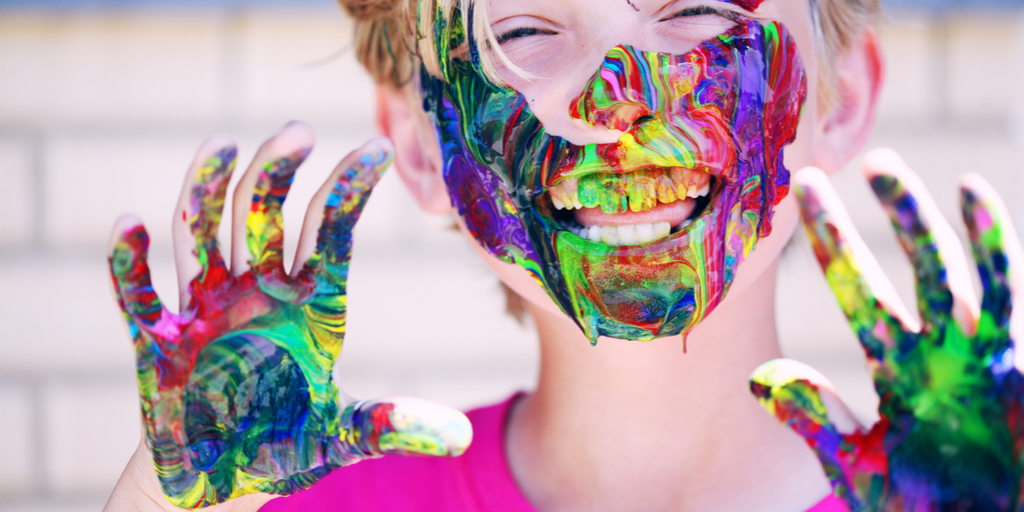 kids with face paint sales glitch