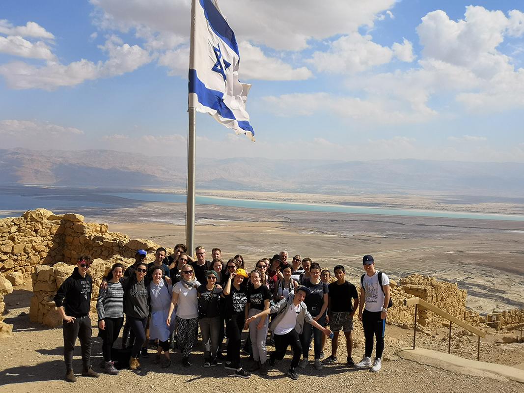 Im Februar 2019 zusammen auf Masada