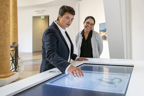 Susan Dackerman and Jessica Ventura at the Diebenkorn exhibit