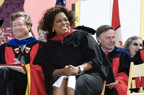 Oprah at Stanford graduation