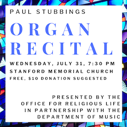 Paul Stubbings Organ recital