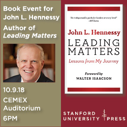 SU Press book written by John Hennessy