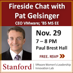 Promotional ad for 11/29/18 CEO Fireside Chat