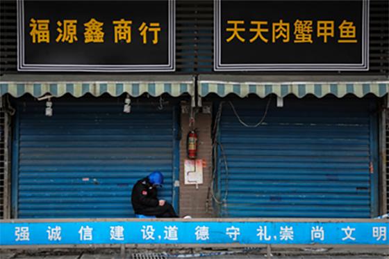 Wuhan market by Getty