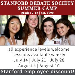 Stanford Debate's 2019 summer camp