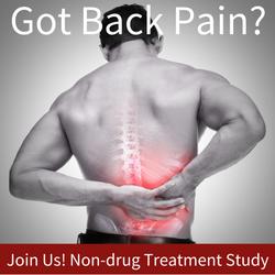 Chronic low back pain study.