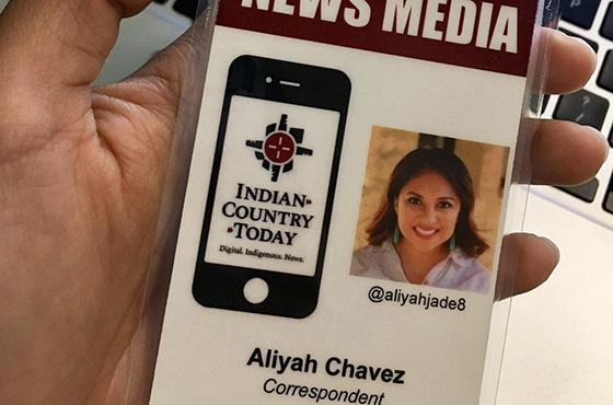 Aliyah Chavez press badge