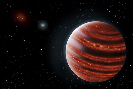 Artist's conception of exoplanet 51 Eri b