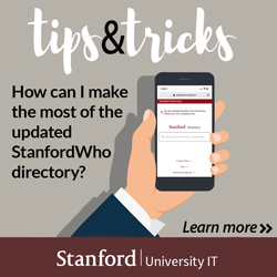 Tips & Tricks: StanfordWho directory