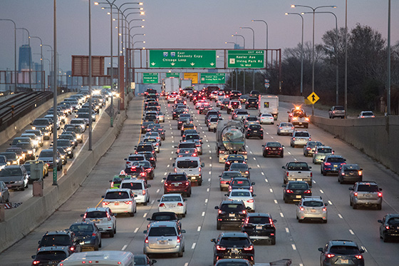 Chicago traffic by Getty Images