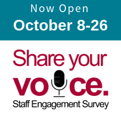 staff survey opens October 8.