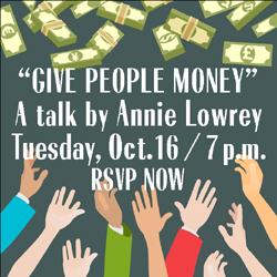 Talk featuring Annie Lowrey