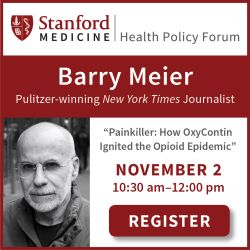 Health Policy Forum with Barry Meier