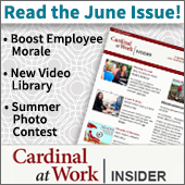 Read the June issue of the Cardinal at Work insider, with stories about how to boost employee morale, the new video library, and more.